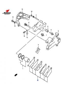 RM 250&125 DR-Z 400 Rear Brake Pads
