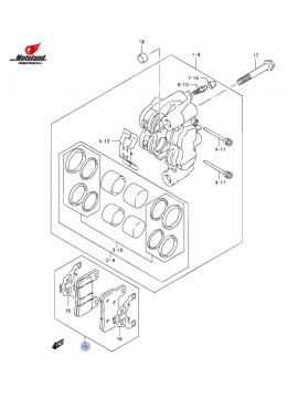 GSX-R 1000 K9-L1 Front Brake Pads
