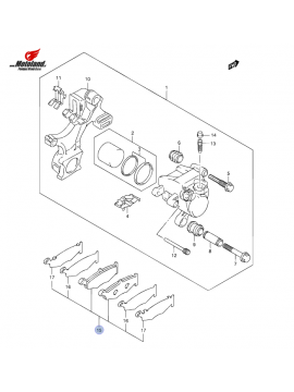 GSX-R 1000 K7-K8 Zavorne Ploščice Zadaj