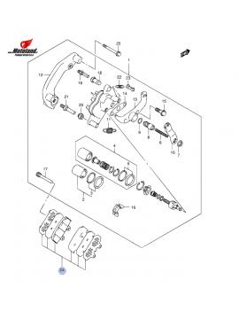 AN 650 K4-L6 ABS Zavorne Ploščice Zadaj