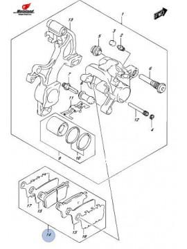 Rear Brake Pads GSX-R 1000 L5-