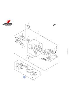 Suzuki Zavorne Ploščice Zadaj VLR 1800