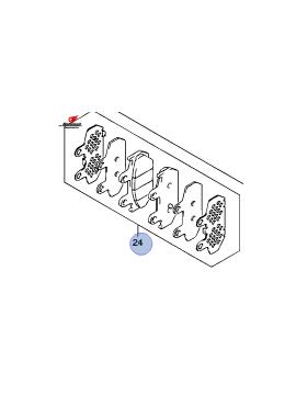Zavorne Ploščice Zadaj AN 400A